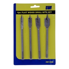 4PC FLAT WOOD DRILL BIT