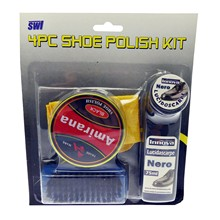 4PC SHOE POLISH KIT