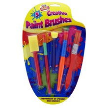 ARTBOX - KIDS PAINT BRUSH SET - 5 PACK
