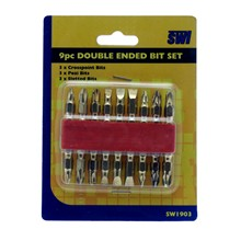 9PC DOUBLE ENDED BIT SET