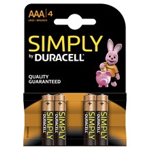 DURACELL SIMPLY AAA - 4 PACK