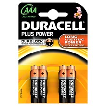 DURACELL PLUS POWER AAA - 4 PACK
