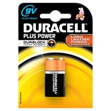 DURACELL PLUS POWER - 9V - SINGLE PACK