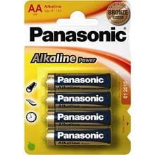 PANASONIC ALKALINE POWER - AA LR6 - 4 PACK