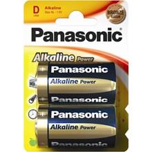 PANASONIC ALKALINE POWER - LR20/D - 2 PACK