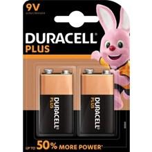 DURACELL - PLUS POWER 9V- 2 PACK