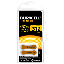 DURACELL - 312 HEARING AID BATTERY - 6 PACK