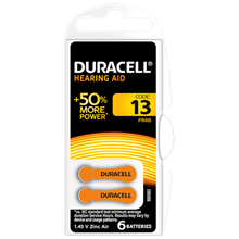 DURACELL - 13 HEARING AID BATTERY - 6 PACK