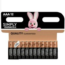 DURACELL SIMPLY - AAA BATTERY - 12 PACK