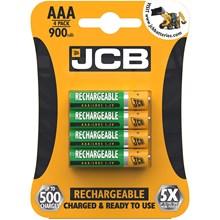 JCB RECHARGABLE AAA BATTERY 900MAH - 4PACK