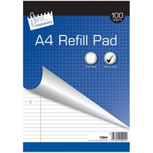 JUST STATIONERY - A4 REFILL PAD - 100 SHEETS
