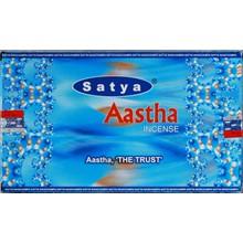 SATYA - AASTHA INCENSE STICKS - 15G X 12 PACK