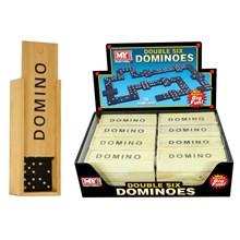 """MY - 6"""" DOMINOES IN WOOD BOX"""