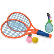 2 PLAYER JUNIOR NEON COLOUR TENNIS SET