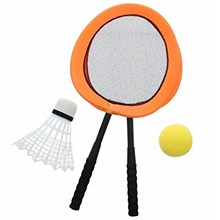 "25"" JUMBO PADDLE RACQUETS WITH BALLS 3ASSTD"