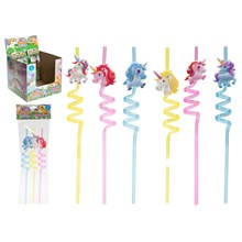 3PC UNICORN STRAWS