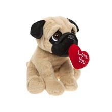 20CM PUG PLUSH WITH LOVEHEART