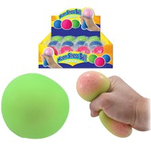NEON STRESS BALL 7CM - 4 ASSORTED