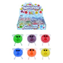 SQUEEZE BALL WITH BEADS - PIGS