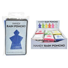 HANDY - RAIN PONCHO - 6 ASSORTED