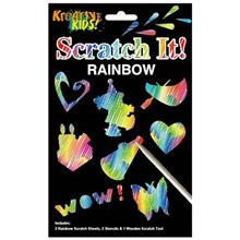 KREATIVE KIDS - RAINBOW SCRATCH IT STENCILS