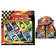 STREET MACHINES - MINI DIE CAST CARS - 8 PACK