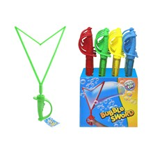 BUBBLE SWORD WITH HANDLE - 4 ASSORTED