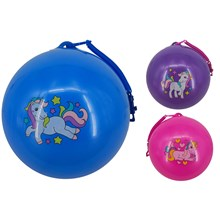 SMELLY BALL UNICORN WITH KEYRING - 3 ASSORTED