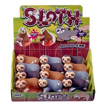 SLOTH SUCK AND SQUEEZE POO SLIME - 3 ASSORTED