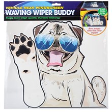 WINDSCREEN WAVING WIPER BUDDY - PUG