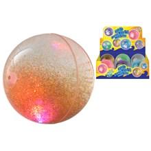 """4"""" LIGHT UP BOUNCE WATER BALL WITH GLITTER - 6ASST"""