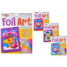 KREATIVE KIDS - PEEL AND STICK FOIL ART - 4 ASST