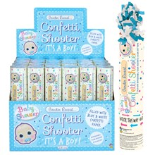 GENDER REVEAL CONFETTI SHOOTER - BABY BOY BLUE