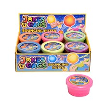 JOKES & GAGS - BOUNCING PUTTY - 6 ASSTD