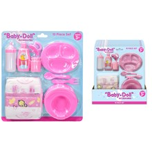 10PC BABY DOLL ACCESSORIES PLAYSET