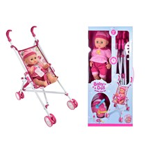 BABY DOLL WITH STROLLER PLAYSET