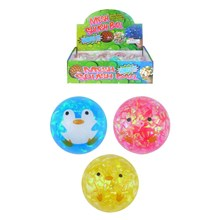 SQUEEZE ANIMAL BALL 4.5CM - 3 ASST