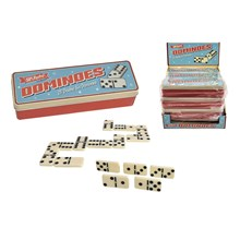 SUPERETRO GAMES - DOMINOES IN TIN BOX - 28PACK