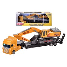 LORRY TRANSPORTER WITH DIGGER