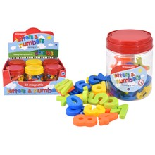 MAGNETIC LETTERS & NUMBERS IN TUB - 52PACK