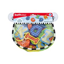 BATH TOYS IN NET BAG - NUMBERS&LETTERS - 36PACK