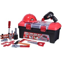POWER TOOLS -  TOOL BOX SET W/ DRILL - 40PACK