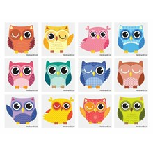 OWL TATTOOS - 12 PACK