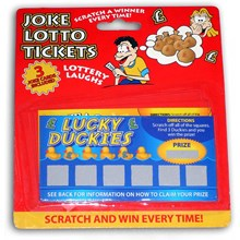 FRANKSTER - JOKE LOTTERY TICKETS - 3 PACK