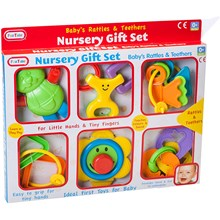 FUNTIME - RATTLE AND TEETHER SET - 6 PACK