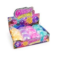 HGL - GLITTER SQUEEZE BALL - LIGHT UP - 4ASST