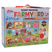 GRAFIX - GIANT MUSICAL FARMYARD FLOOR PUZZLE