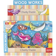 WOOD WORKS - CHUNKY PUZZLE UNDERWATER - 2ASST