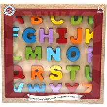 MY 1ST WOODEN CHUNKY PUZZLE - LETTERS