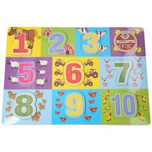 WOODEN PUZZLE CHUNKY NUMBERS BLUE